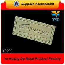 Fashionable Custom Metal Luggage Tag/Handbag Metal Logo/Metal Logo plate