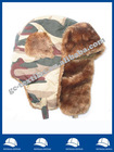 camo Russian hat with fake fur