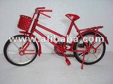Handmade Art Model Bicycle by metal - Red color