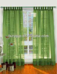 Hanger loop gauze curtain