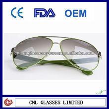 2013 Top Quality Aviator Green Metal Sunglasses/Fashion Eyewear (R01018AU)