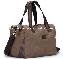 Hot Sale Creative Men's Brown Canvas Traveling Duffel Hiking Bag (UF38302)