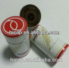 Plastic and aluminum bottle cap for liquor