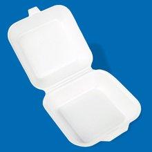 Polystyrene foam box size 6 - hamburger box