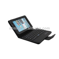 Black Removable wireless Bluetooth Keyboard with PU leather Case