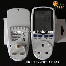 CE SAA GS BS Large LCD Plug-in digital energy meter working