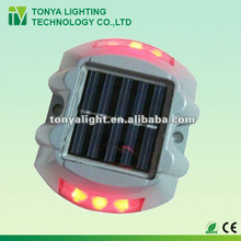 aluminium alloy solar led road side stud light IP68 single side or double side red green blue yellow white color light