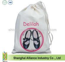 Personalized Drawstring Cotton Dance Bag