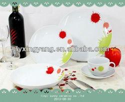 Pretty dinnerware sets ceramic,porcelain dinnerware set wholesale,cheap ceramic dinnerware set