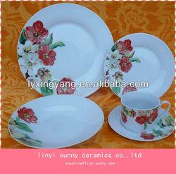 Pretty design tableware ceramic,porcelain tableware ceramic set wholesale,cheap ceramic tableware set