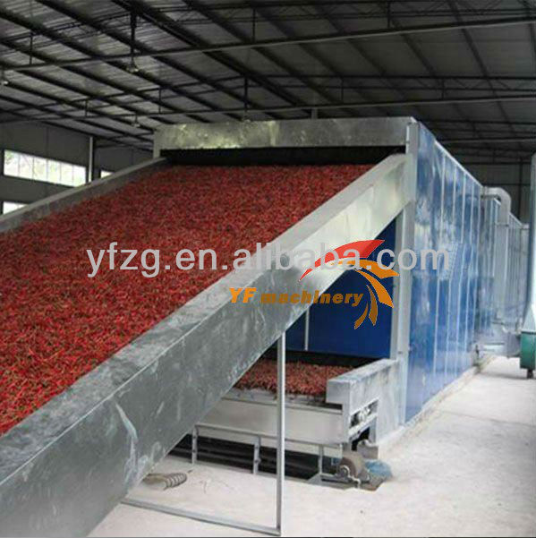 Yufeng Brand 3-5 layers Automatic Vegetable Mesh Belt Dryer and Fruit Mesh Belt Dryer