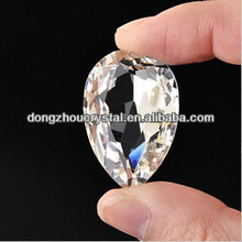 point back teardrop crystal glass beads for decoration