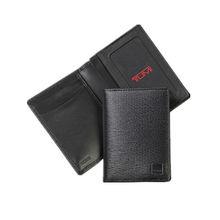 Black Bifold PU Leather Card Case