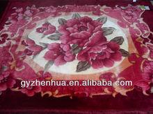2013 new product printing blanket 100% polyester gaoyang blanket