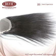 wholesale virgin brazilian human hair unprocessed 100% top light yaki lace closure
