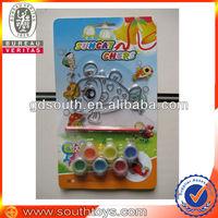 kids plastic suncatcher with 6pc paint oil