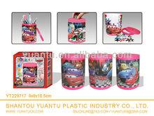 Plastic ABS 3D cartoon car brush pot puzzle toy