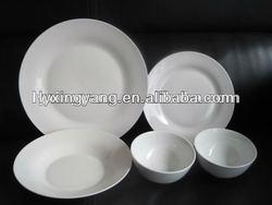 20pcs/30pcs porcelain boxed dinner sets white, crockery for hotels, hotel cutlery