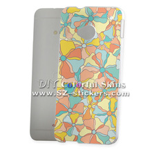 flower design cell phone case for HTC M7