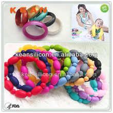 Best Selling Silicon Gift/Food-safe Popular Kean Bead Teething Bangle Jewelry Hot Sale