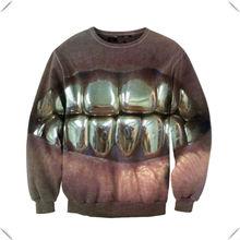Fashion Shiny Grill Unisex sublimated printing Sweatshirt