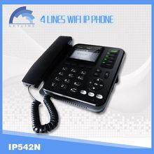 4 line voip wifi phone wifi sip desk phone