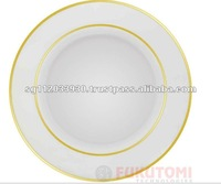 Singapore White with Gold Rim Sublimation Plate