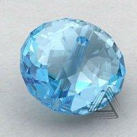 Roundelle Shape Sky-Blue Topaz Beads, Sky-Blue Topaz Calibrated Gemstone Beads