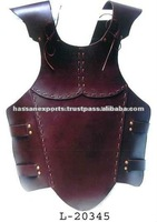 Brown Leather Body Armor Jacket