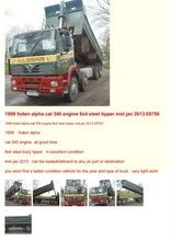 1998 foden alpha cat 340 engine 8x4 steel tipper mot jan 2013