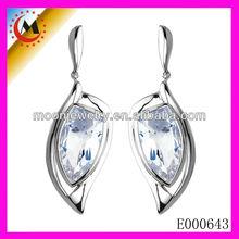 2013 FASHION CLEAR DIAMOND DANGLE EARRING POPULAR SHARP ADGE WINGS EAR WEAR TURKEY MADE EUROPEAN DEISGN JEWELRY EARRING IN EBAY