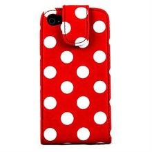 Polka Dot Flip Case for Samsung i9100 Red & White