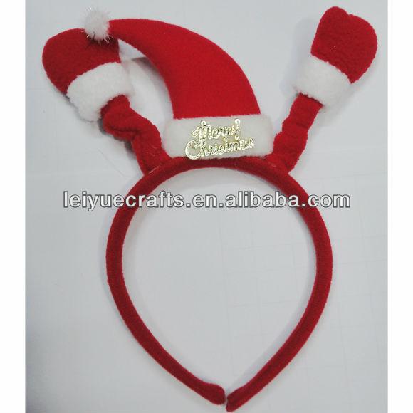 chapéu de natal das crianças faixa do cabelo natal cabeça para festa de natal