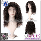 short curly afro human hair wigs hairpieces for black women