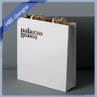 Luxury boutique paper shopping bags with logo printed