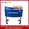 Vintage Metal Metal Rooling Cooler Icebox Ice Box Fridge Camping