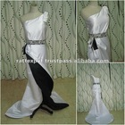 Black and White bridal wedding dress