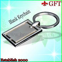 2013 Custom Shinny nickel Zinc alloy promotion cheap blank keychain/keyrings for wholesale