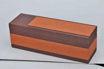 Unique design pu leather wine carrier