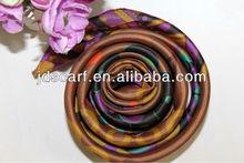 hot arab hijab muslim fashion scarf circle flower cheap silk material infinity scarf