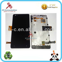 Cell phone lcd digitizer with frame for Nokia lumia 900