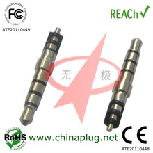 Tray 2.5mm thicked male 3.5mm plug jack 4 pole connector