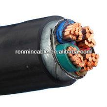 185mm 70mm 25mm 16mm 4mm 2.5mm 4 Core Copper CU/PVC/SWA PVC Cable