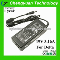 replacement adapter for delta laptop 19v 3.16a charger with 5.5*2.5 tip