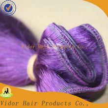 Factory supply wholesale 100% human hair purple weave hair