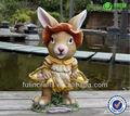 Nova Esster decoração de jardim de resina estatueta coelho
