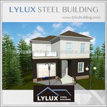 Good designed 2 storeys house building prefabricated steel modular villa