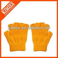 Half finger knit gloves