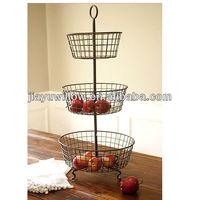 Cheap 3 Tier metal wire fruit baskets