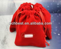fashionable velvet drawstring pouch/bag customize